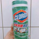 美國CLOROX-高樂氏居家殺菌濕紙巾-全聯好物分享-拋棄式抹布-居家打掃清潔殺菌一次完成