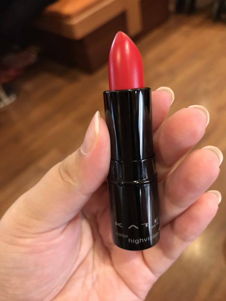 makeup/lipstick/唇彩/Kate tokyo/凱婷高顯色映象唇膏/high vision RD-1 氣勢正紅色,每個女孩都該有的氣勢唇彩 彩妝品分享 攝影 民生資訊分享