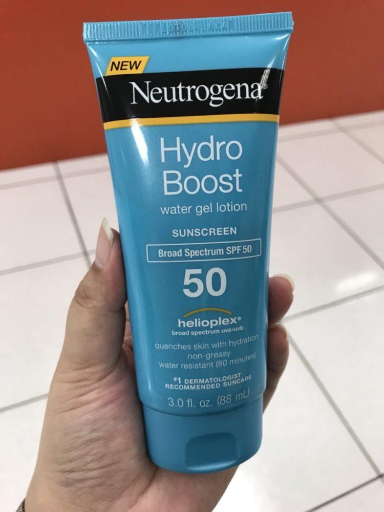 Neutrogena/露得清 水活保濕防曬乳 Helloplex 強效隔光科技,給我5倍防護力?Hydro Boost water gel lotion SPF50 保養品分享 健康養身 民生資訊分享