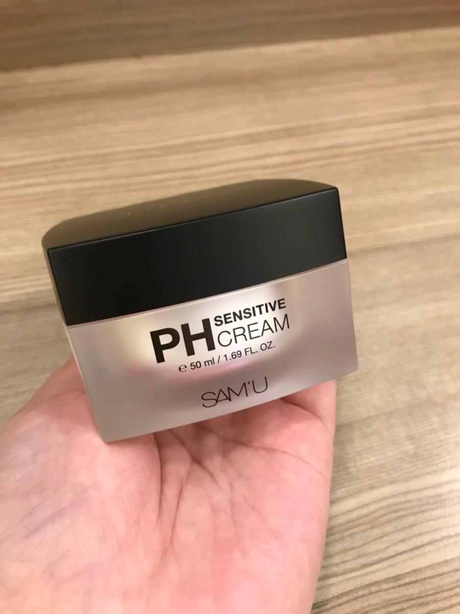 換季臉部保養/韓系保養/森美稀客 SAM'U PH敏感肌膚專用面霜-水感滋潤的質地,親膚好吸收! 保養品分享 攝影